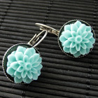 Colorful Flower Earrings in Studs or Dangles