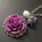 Flower Jewelry Charm Necklaces