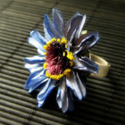 Pretty Flower Rings in Resin, Paper and more