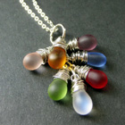 Teardrop Cluster Charm Necklaces
